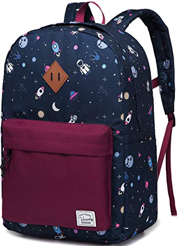 Preschool Toddler Backpack,Vaschy Little Kid Small Backpacks for Nursery School Children Boys and Girls with Chest Strap in Large Cute Astronaut