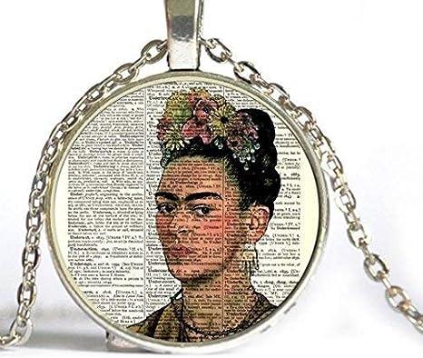 Frida Kahlo - Collar con impresión de página de diccionario ...
