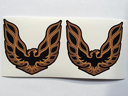 2 Pontiac Trans Am Black Die Cut Decals