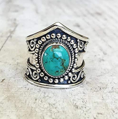 (Waldenn 925 Silver Women Man White Fire Opal Moon Stone Wedding Engagement Ring Sz6-10 | Model RNG - 15046 | 10)