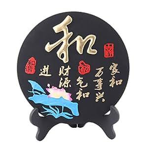 uxcell Lotus Patrón oficina en casa muebles de disco decoración palabra decoración de trinchar W soporte