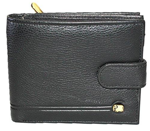 K London Elephantine Multiple Zipper Wallet-14495_blk