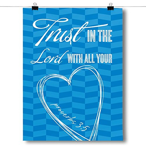 Inspired Posters Proverbs 3:5 Bible Verse Poster