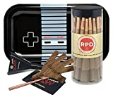 Bundle - 4 Items - 50 Natural RAW King Size Cones, RAW Five On It Cigarette Holder, RAW Loader with Rolling Paper Depot Rolling Tray (Controller)