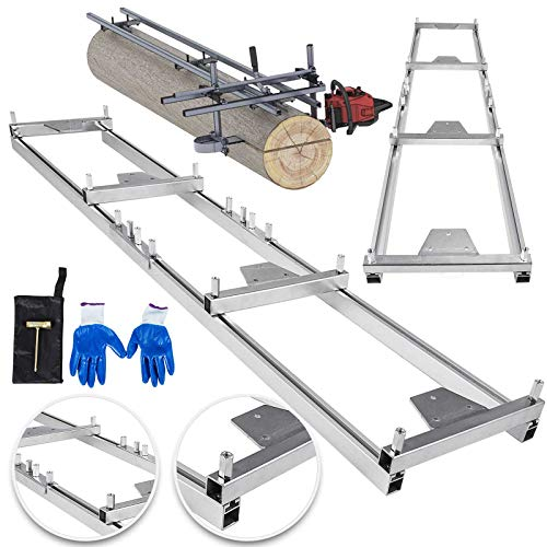 OrangeA Rail Mill Guide System 9 FT Chainsaw Mill Rail Guide with 4 Wood Fixing Plate Rail Mill Guide Used in Combination with The Saw Mill (9FT-RMG) (Used Saws)