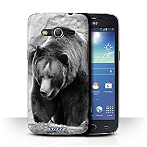 STUFF4 Phone Case / Cover for Samsung Galaxy Core 4G/G386W / Bear Design / Mono Zoo Animals Collection