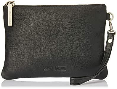 Stitch & Hide Women's Cassie clutch, Black, One Size