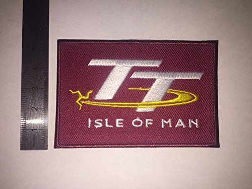 ECUSSON PATCHES AUFNAHER TOPPA - ISLE OF MAN TT RACE 2 - THERMOCOLLANT BLUE HAWAI