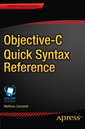 Objective-C Quick Syntax Reference Front Cover
