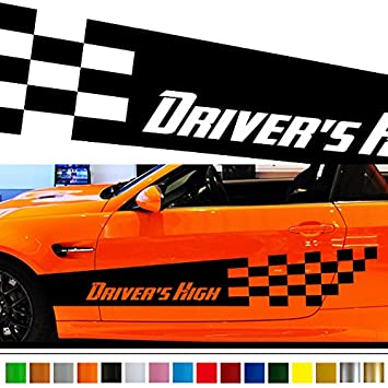 Amazoncom Checkered Car Sticker Car Vinyl Side Graphics Car - Car vinyl decals custom
