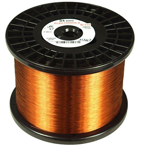 Elektrisola Magnet Wire 36 AWG Gauge Enameled Copper Wire - 10 LBS ...