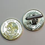Mexican Eagle - 2 Toned(Uniquely Hand Done) Gold & Silver coin cufflinks for men - men's jewelry men's accessories for him groomsmen