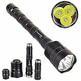 TOPUNDER XLightFire 6000LM 5-Mode 3T6 Super Bright 3x XM-L T6 LED 18650 Flashlight Torch