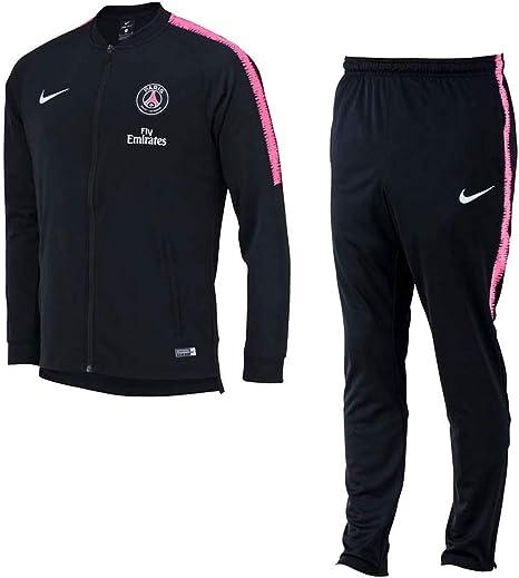 Nike Dry Paris Saint-Germain Squad Chándal, Unisex Adulto, Black ...