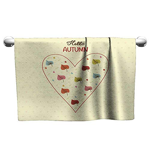 Sports Ttowel Hand Drawn Heart Shape Filled of Bright Butterflies Hair Towels for Women Terry Towels 20 x 20 Inch
