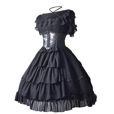 ღLILICATღ Otoño Invierno Mini Vestido con Manga Larga para Mujer Vestido gotico Vestido de Fiesta Cóctel Vintage Rockabilly Vestido de Fiesta Vestido de Encaje en Contraste: Ropa y accesorios