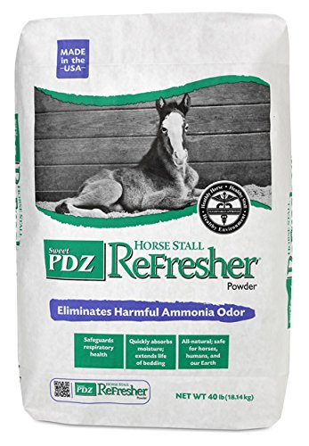 Stall Powder - Manna Pro Sweet PDZ Horse Stall Refresher Powder, 40-Pounds