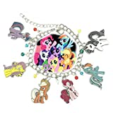 Superheroes Brand My Little Pony Charm Bracelet w/Gift Box TV Series Cartoons Comics Premium Quality Cosplay Jewelry Series by