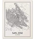 great minimalist home design ideas San Jose, San Jose Poster, City Map Posters, San Jose Map, California Print, California Map, Map Wall Art, Modern Map Art, Minimalist Print, Scandinavian Poster, Black and White, 8x10