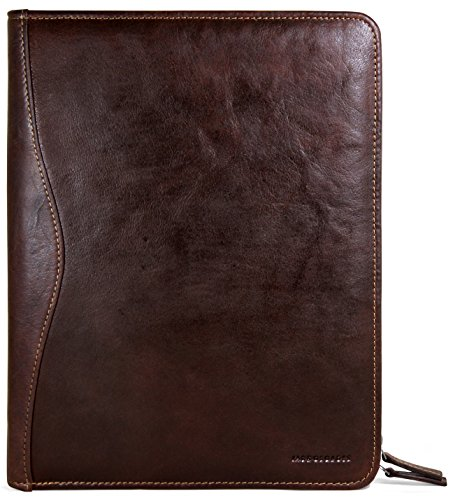 Jack Georges Voyager Zip-Around Letter Size Writing Pad (Brown) by Jack Georges