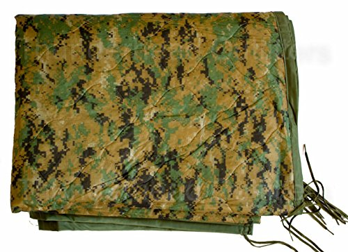 Military Outdoor Clothing Previously Issued U.S. G.I. USMC Marpat Camo Poncho Liner ()