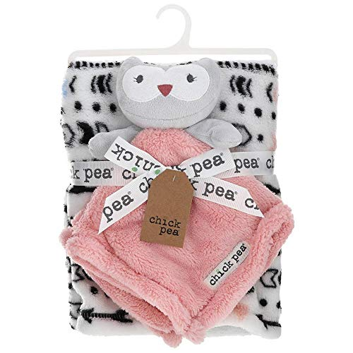 Chick Pea Baby 2-pc. Lovey Security Blanket & Plush Blanket Set (Pink/Grey Owl)