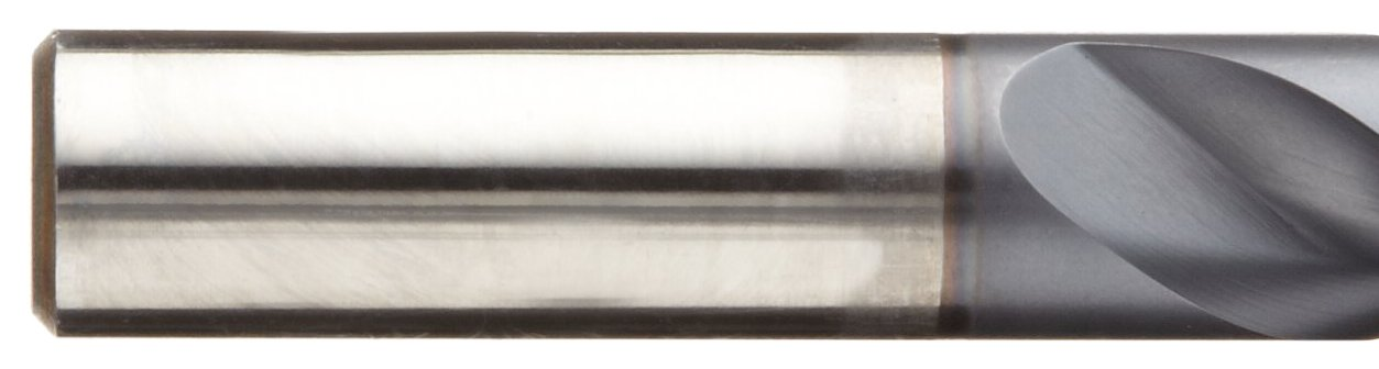 3//8 135 Degree Notch Point Round Shank TiCN Coated Cleveland 2075N Cobalt Steel Jobbers Length Drill Bit Pack of 5