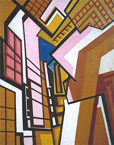 Amazon com: Oil Painting 'Wyndham Lewis - Workshop, 1914