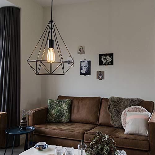 Qazqa Design Suspension Lustre Luminaire Lumiere Eclairage Carcass Noir Acier Noir Autres E27 Max 1 X 60 Watt Interieur Salon Cuisine