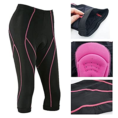 Xcellent Global Women's Cycling Shorts 3D Gel Padded Breathable Bicycle Pants Cycling Knickers Cycling Tights, Black FS027