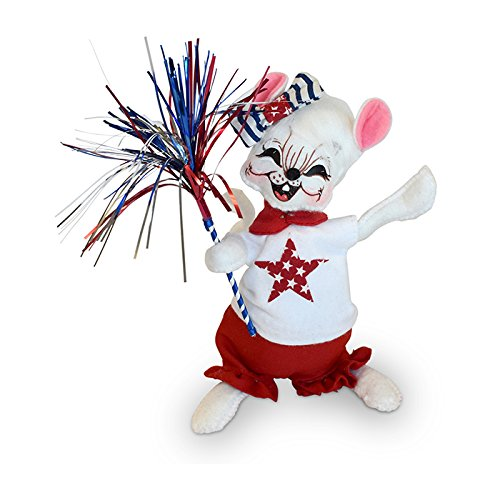 Annalee - 6in 4th of July Girl Mouse ()