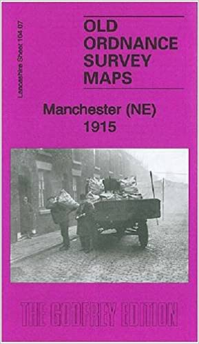 OLD ORDNANCE SURVEY DETAILED MAPS MANCHESTER NE 1891 Godfrey Edition New
