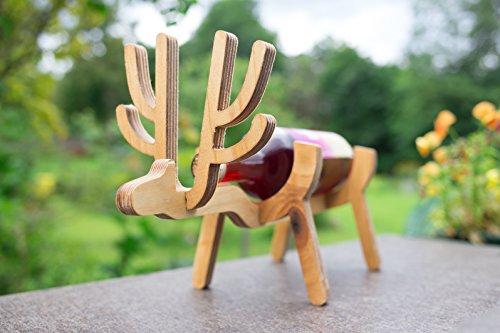 - EWART WOODS Wooden Deer Wine Bottle Holder/Rack Great Wedding Gift.