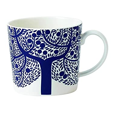 Royal Doulton Fable Garland Blue Tree Accent Mug, White