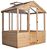 Green Planet UK - 4x6 Traditional Wooden Greenhouse/Grownhouse - FSC Certified Timber, Styrene Glazed Windows, Single Doors, 12mm Shiplap Cladding (4x6 / 4ft x 6ft) 2-7 Days Delivery