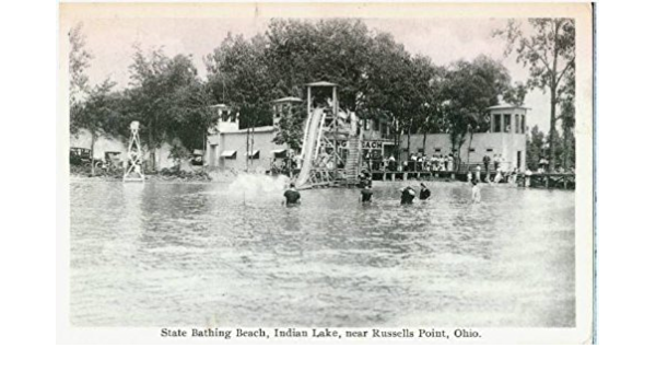 Amazon Com Photo Reprint State Bathing Beach Indian Lake Near Russells Point Ohio 1911 1920 Prints Posters Prints