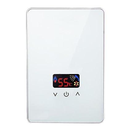 Water heater Calentador de Agua instantáneo, 220V, 5.5kW Roscloud@ (Color :