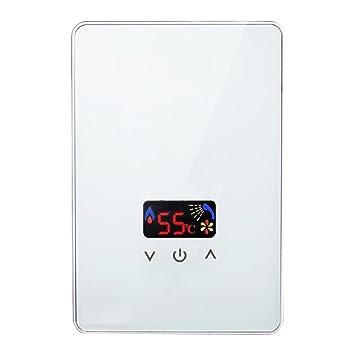 Water heater Durchlauferhitzer, 220V, 5,5kW (Farbe : Weiß): Amazon ...