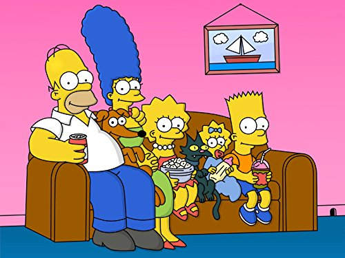 Unique Poster's The Simpsons Homer Simpson Marge Simpson Bart Simpson Lisa Simpson Maggie Simpson TV Series Poster/Print 12 X 18 Inch Ultra HD Multicolour Unframed Rolled Great Wall Décor