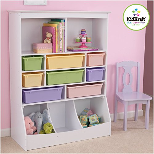 KidKraft Wall Storage Unit, White - Pearlescent Material