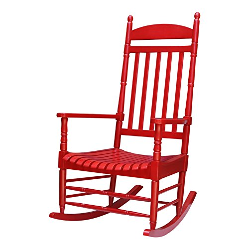 - International Concepts R-54210 Porch Rocker - Turned Post - Solid Wood - Red