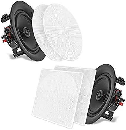 """Pyle PDIC56 5.25/"""" Flush Mount 2-Way 150W In-Wall//In-Ceiling Speakers Lot of 8"""