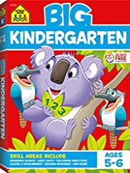 School Zone - Big Kindergarten Workbook - Ages 5 to 6, Early Reading and Writing, Numbers 0-20, Basic Math, Ma