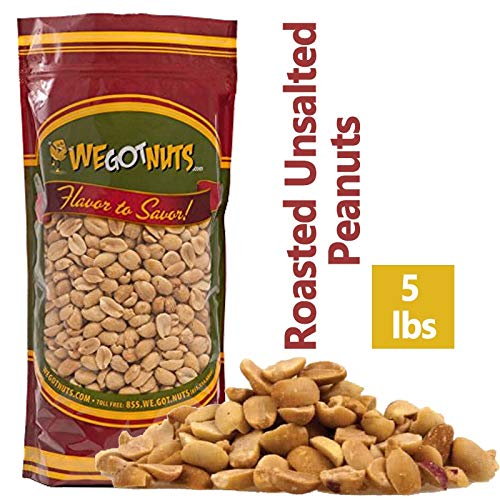 - Roasted Unsalted Jumbo Peanuts, Blanched , 5 Pound Bulk Bag - We Got Nuts
