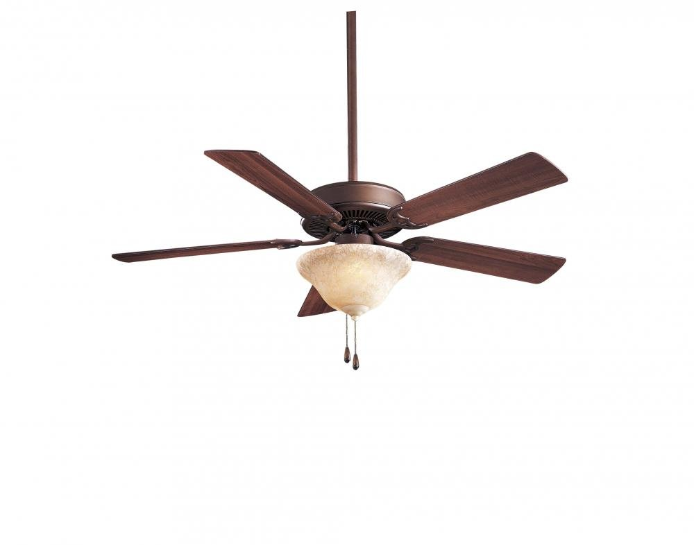 Minka-Aire F548-ORB Downrod Mount, 5 White / Cream  Blades Ceiling fan with 64 watts light, Oil-rubbed Bronze