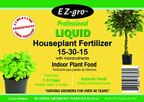 Indoor Plant Food by E Z-GRO 15-30-15 | Liquid Plant Food for Your