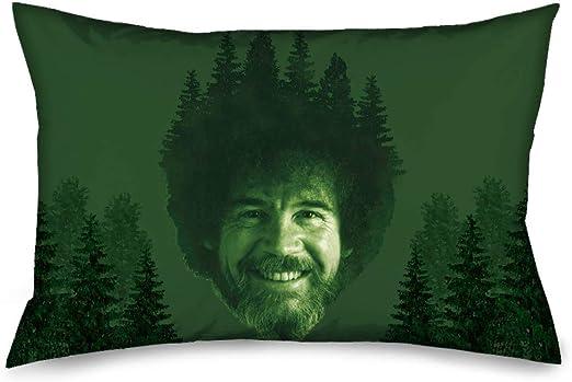 Pillowcase Bob Ross Painting Pose Mountains Landscape Grays Standard