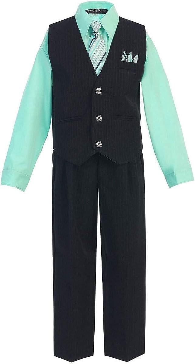 Amazon.com: iGirlDress Little Boys' and Big Boys' Special Occasion  Pinstripe Vest Set Infant-20: Clothing