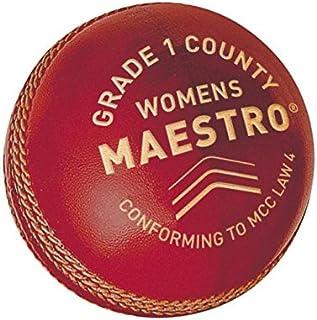 GM pour Femme Maestro Grade 1DE Balle de Cricket, Femme, Maestro Grade 1 County Red Gunn & Moore 3002A101