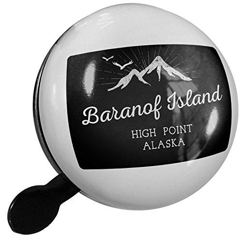 Small Bike Bell Mountains chalkboard Baranof Island High Point - Alaska - NEONBLOND Baranof Island